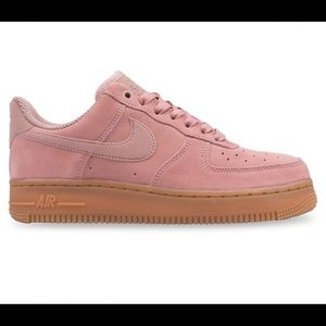 Pink Nike Air Force 1 Shoes
